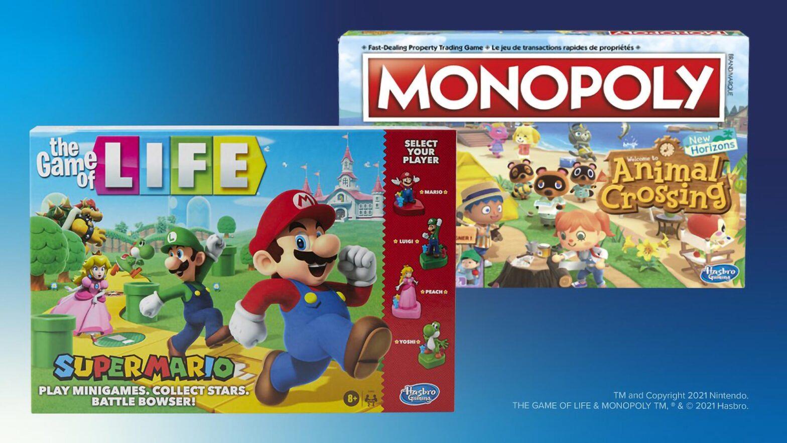 Hasbro x Nintendo Board Games