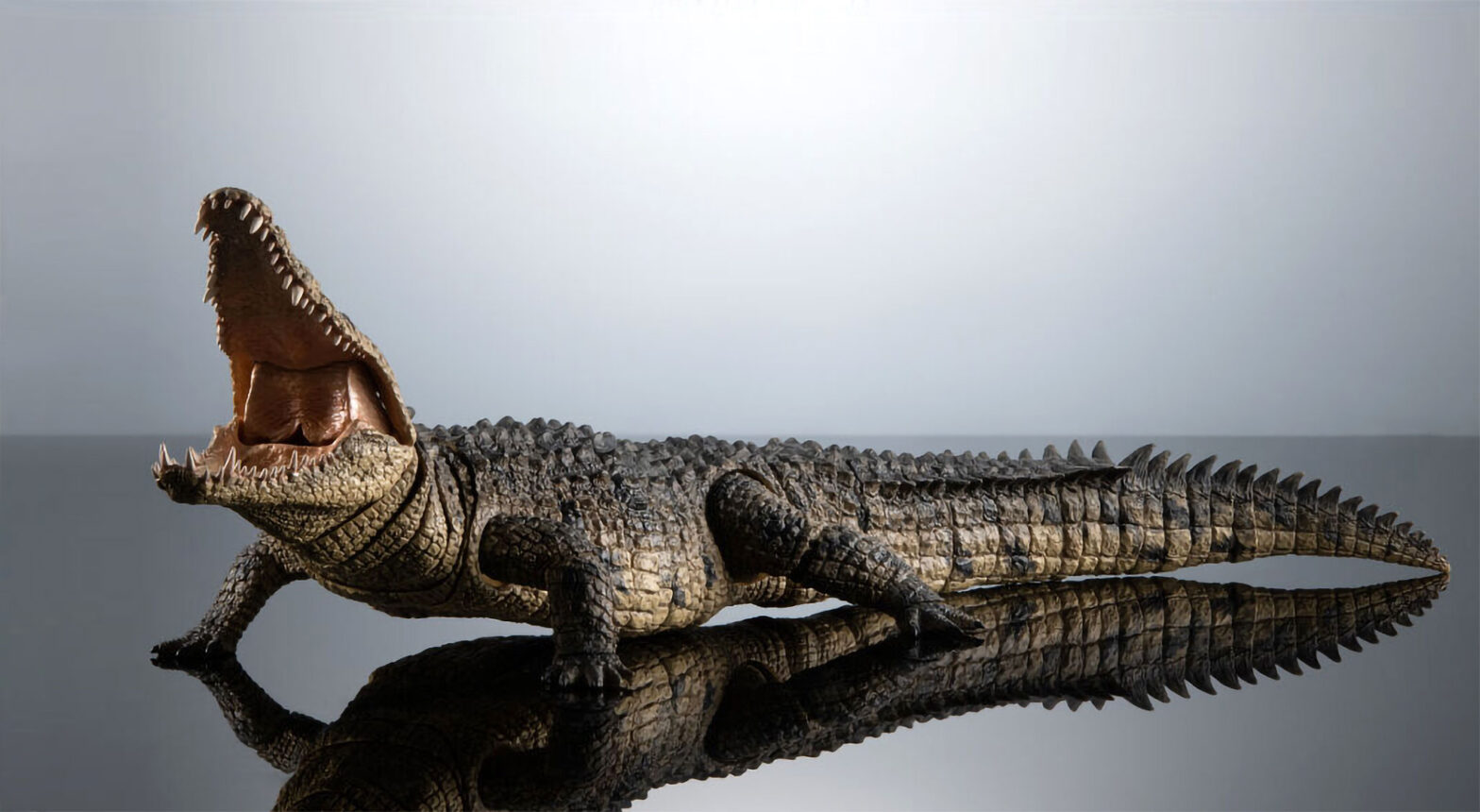 Bandai Ikimono Encyclopedia Ultimate Nile Crocodile Model Kit
