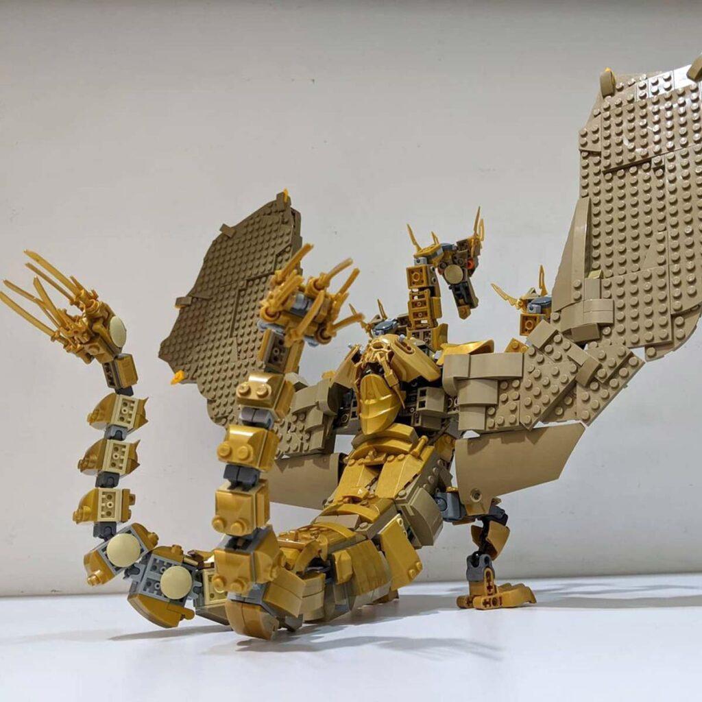 LEGO MOC King Ghidorah by Chubbybots