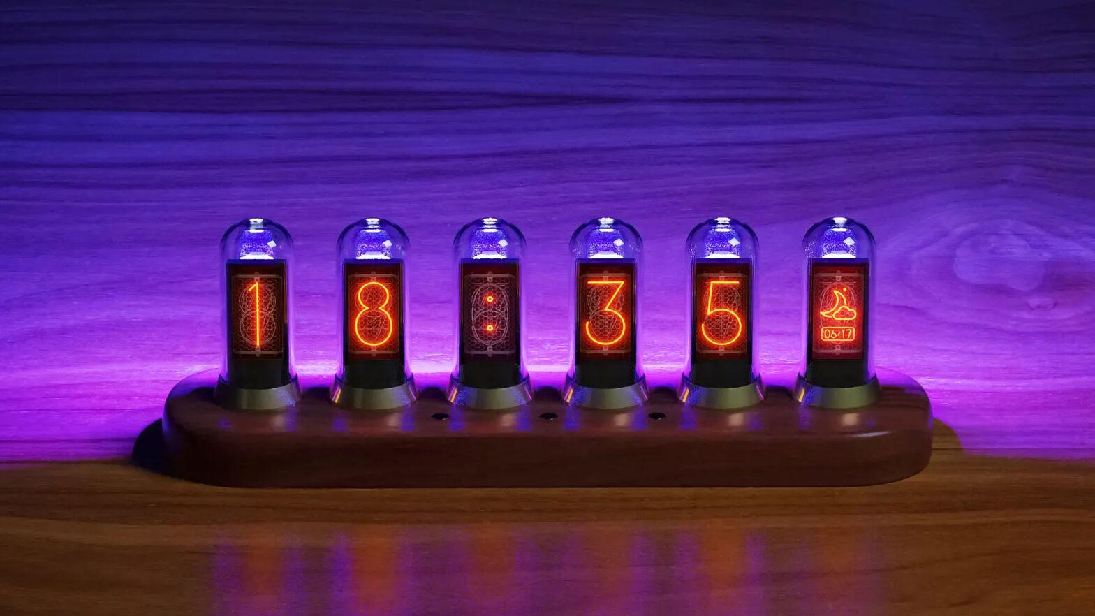 Nextube Retro Nixie Clock-inspired Display