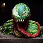 We Are Melon: Awesome <em>Venom</em> Bust Carved Out Of Watermelon