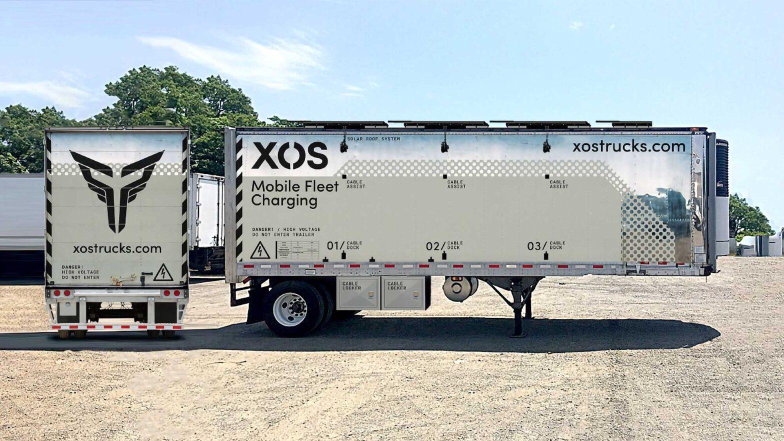 Xos Hub Mobile Charging Station for EVs