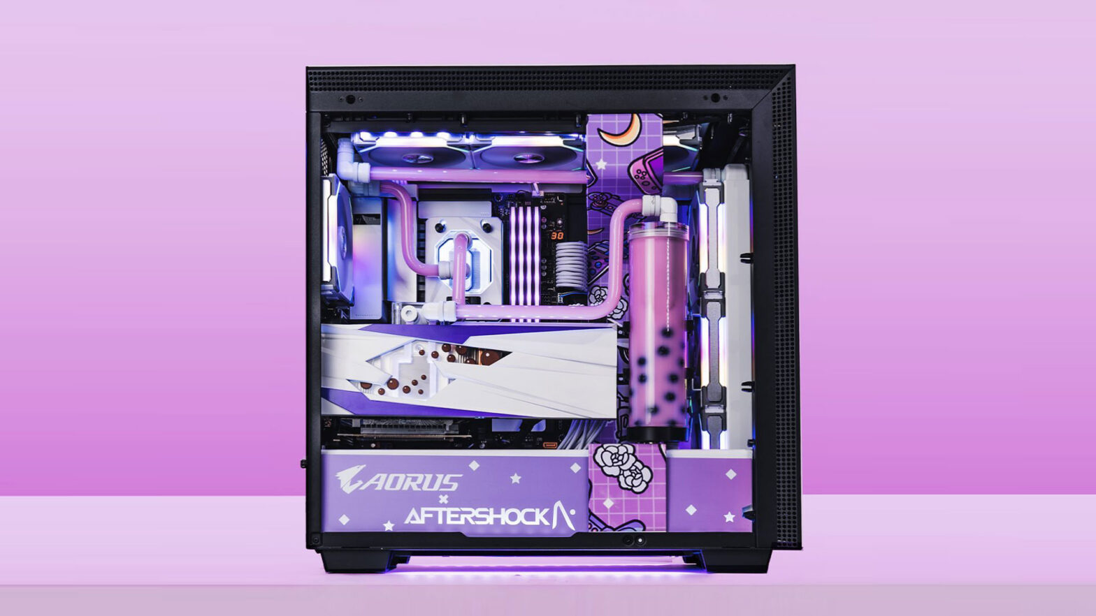 AORUS x Aftershock Bubble Tea-themed PC