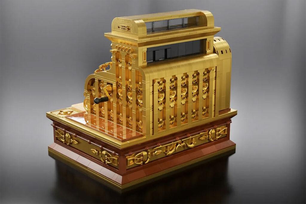 Antique Cash Register LEGO MOC by dimexart