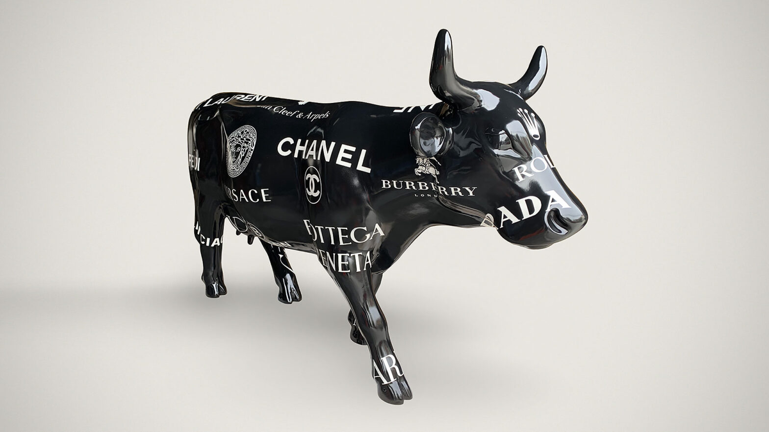 Branded Luxury Grazing Cow by Paula Crown