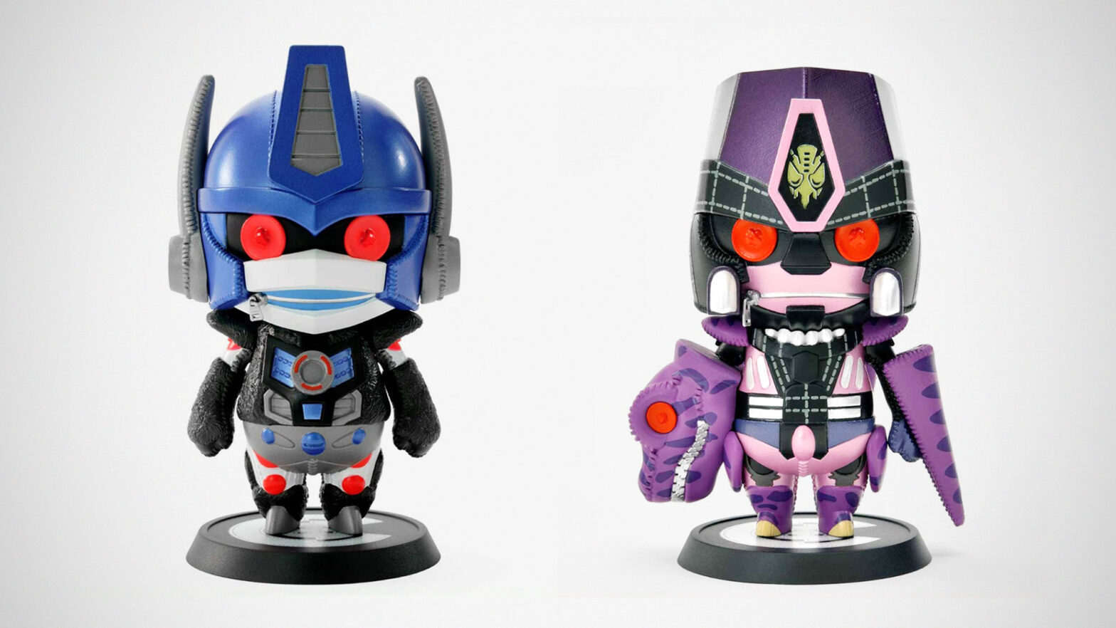Cutie 1 Beast Wars Convoy and Megatron Figures