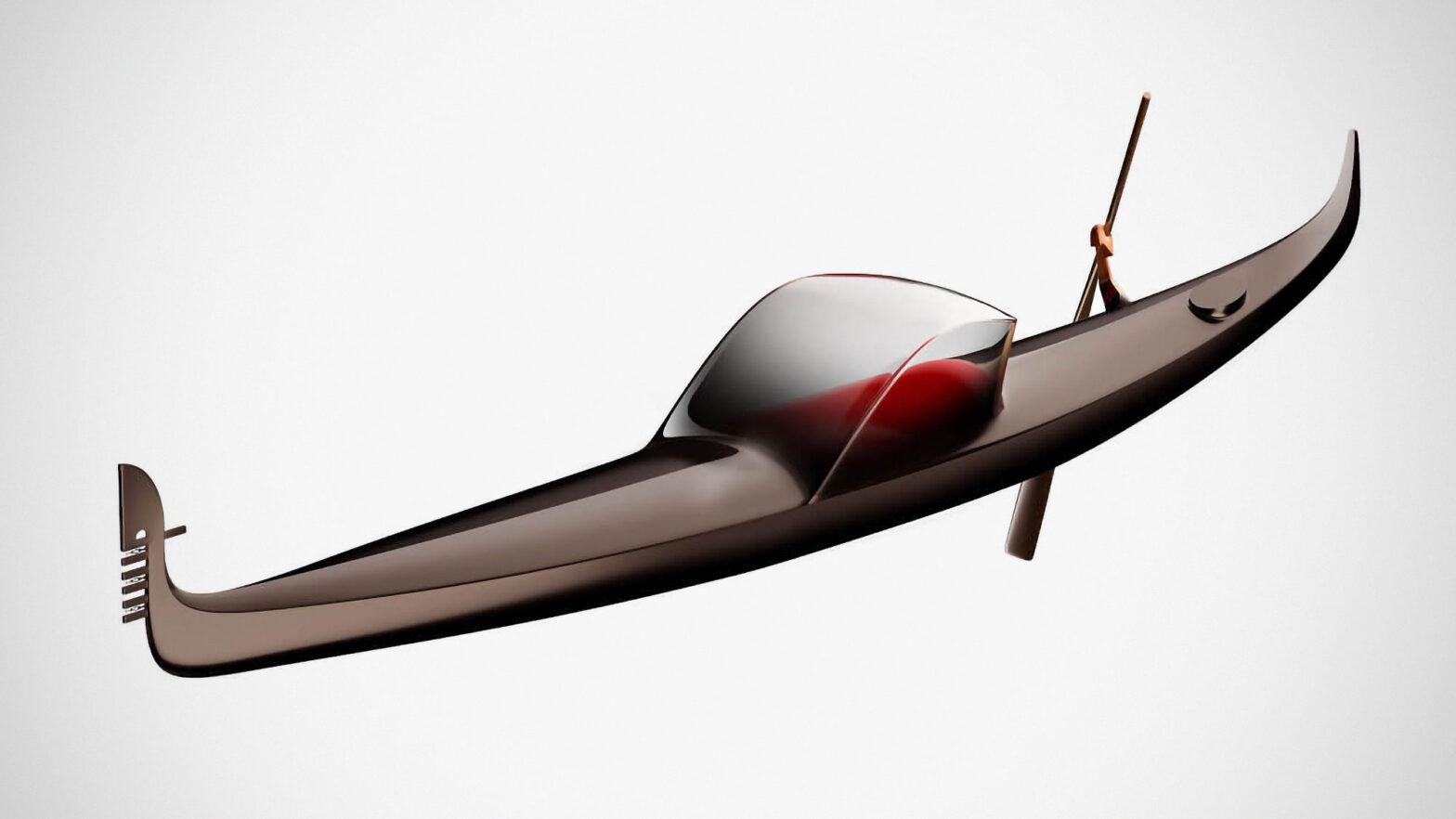 Dream of Winter Gondola for Venice by Philippe Starck
