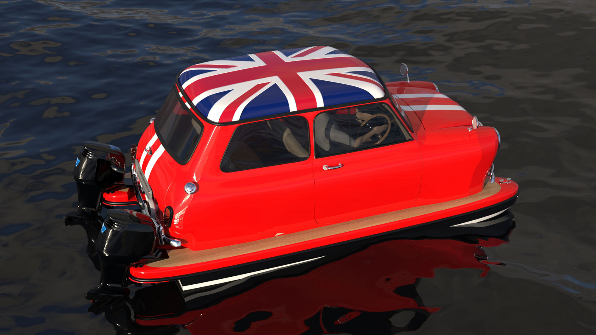 Floating Motors Classic Turned Into Boats