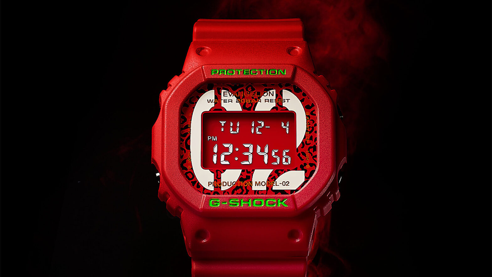 G-Shock DW-5600 EVA-02 The Beast Wrist Watch