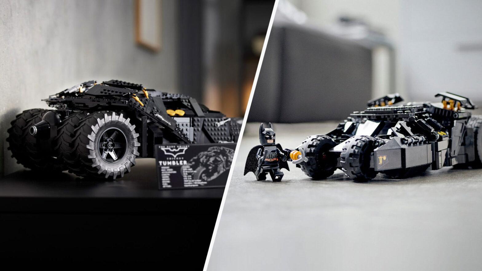LEGO 76240 and 76239 Batmobile Tumbler Sets