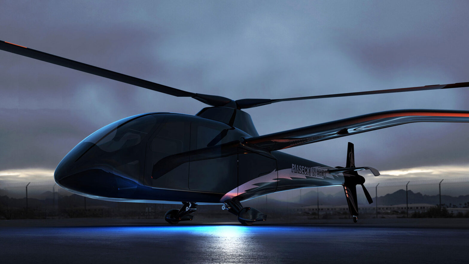 Piasecki PA-890 Hydrogen Fuel Cell Helicopter