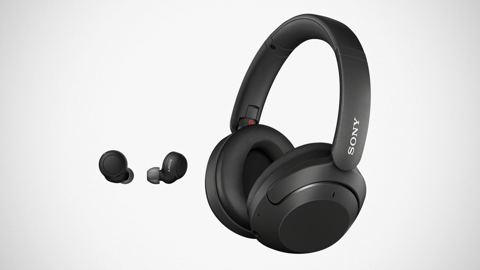 Sony WF-C500 Earbuds and WH-XB910N Headphones